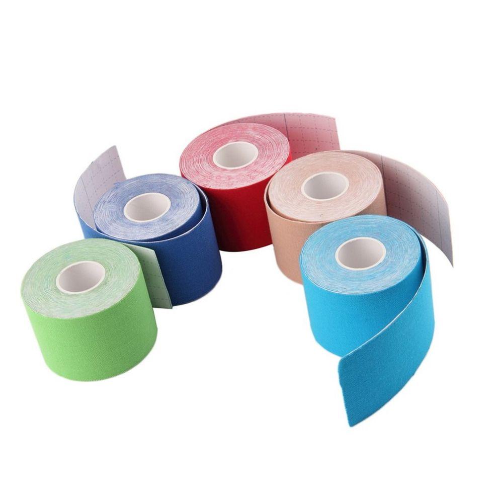 5 Farben 5 cm x 5 mt Sport Muscle Aufkleber Bandrolle Cotton Elastic Muscle Bandage Strain Injury Unterstützung freies verschiffen