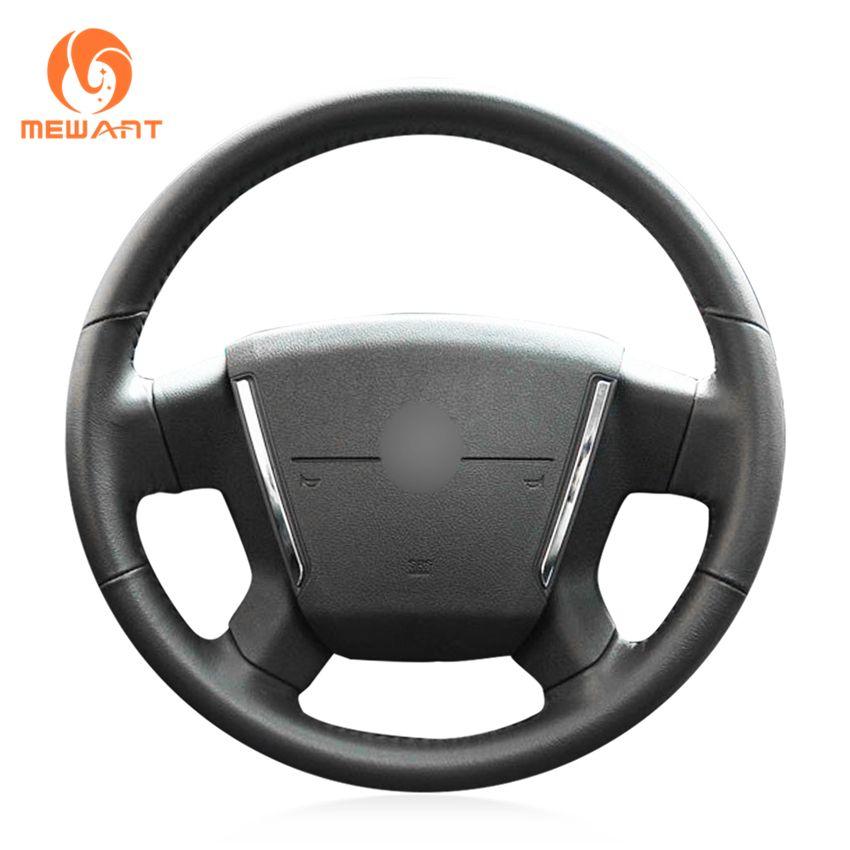 MEWANT Black Artificial Leather Car Steering Wheel Cover for Dodge Caliber 2008-2011 Dodge Avenger 2007