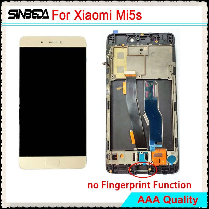 Sinbeda New LCD Display For Xiaomi MI 5s Mi5s M5s Touch Screen Digitizer Assembly + Frame For Xiaomi MI5s 5.15
