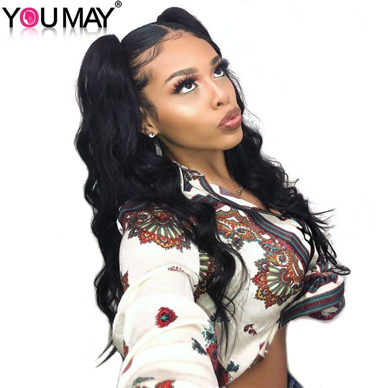 250% Denstiy Full Ends Lace Front Human Hair Wigs 13x6 Pre Plucked Brazilian Body Wave Lace Front Wigs You May Remy Hair