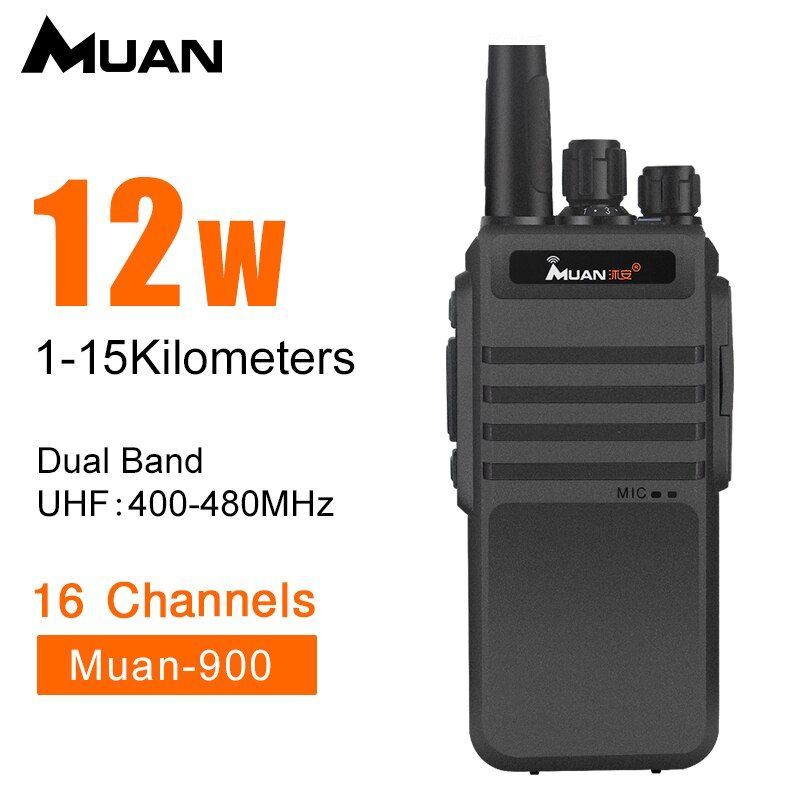 Muan Walkie Talkie M-900 Professional Two Way Radio 10KM UHF 400-480MHZ Portable CB Radio Walkie-Talkie 12W