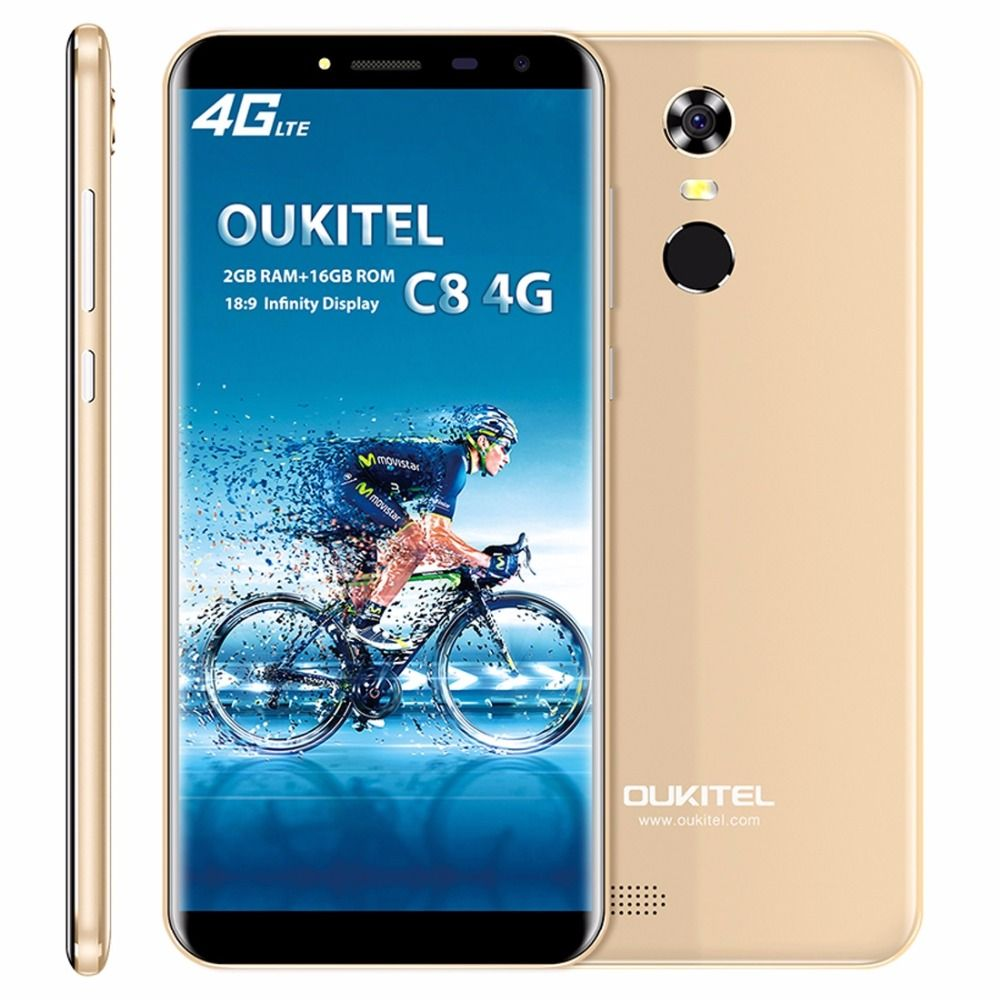 Original Oukitel C8 4G LTE Mobile Phone MTK6737 Quad Core Android 7.0 5.5