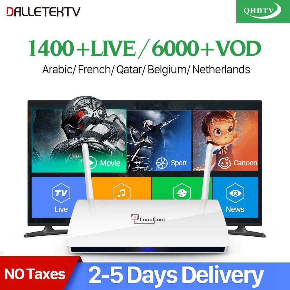 Leadcool IPTV France Arabe QHDTV Boîte Leadcool Android récepteur tv RK3229 Quad-Core Wth 1 Année IPTV Abonnement IPTV France
