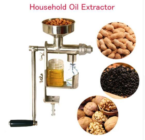 Manuelle Ölpresse Maschine Haushalt Öl Extractor Erdnuss Nüsse Samen Ölpresse Maschine