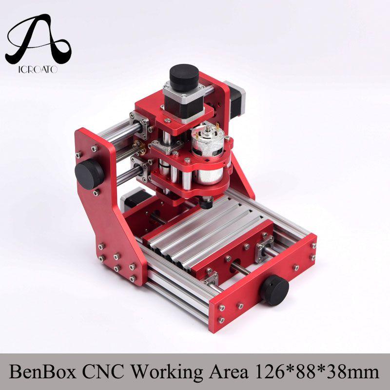Diy CNC engraving machine cnc 1310 Benbox PCB Milling Machine CNC Wood Carving Mini Engraving router PVC working area 126*88*38m