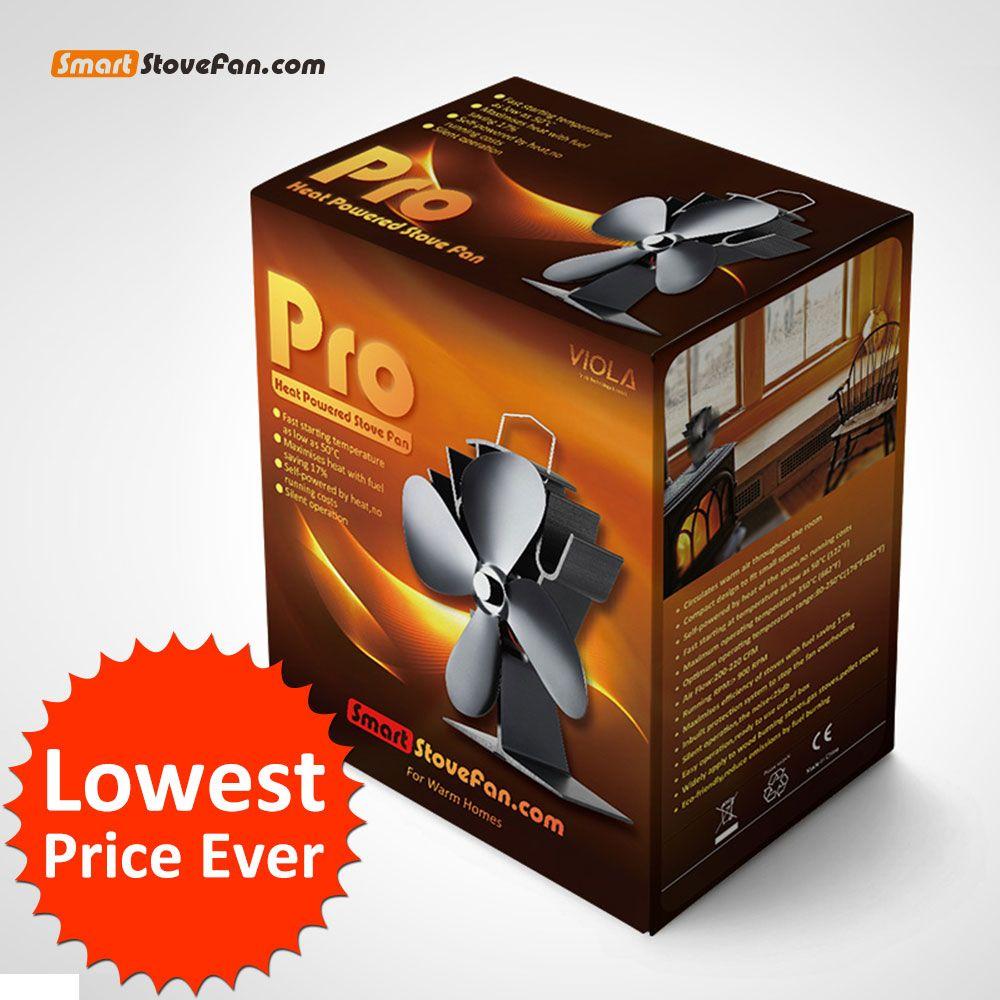 No Running Cost 17% Fuel Saving Eco Heat Powered Stove Fan Log Burner Fan Stove Top Fan