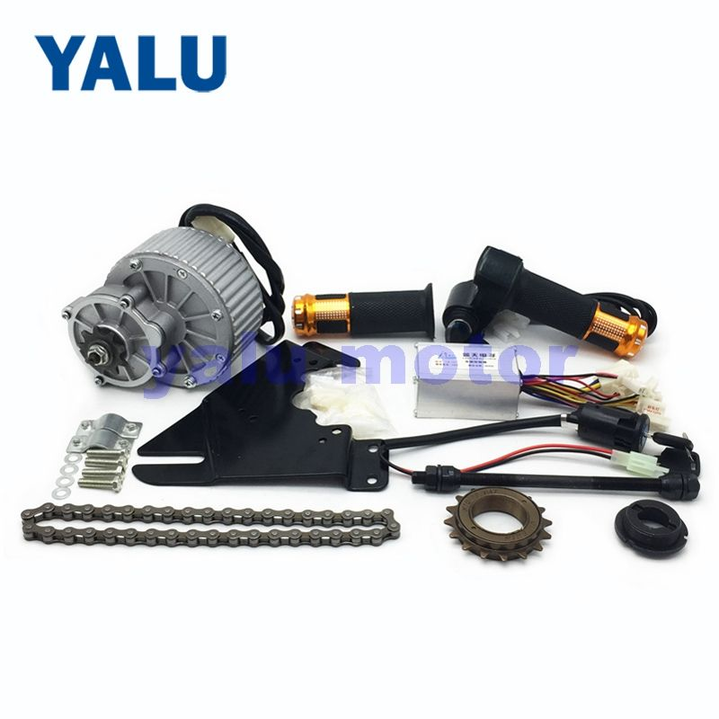 24V 36V 450W Electric Scooter Bike Motor GNGBIKE Motor Kit With MY1018 Rare Earth Motor Throttle Handle Battery Voltage Display