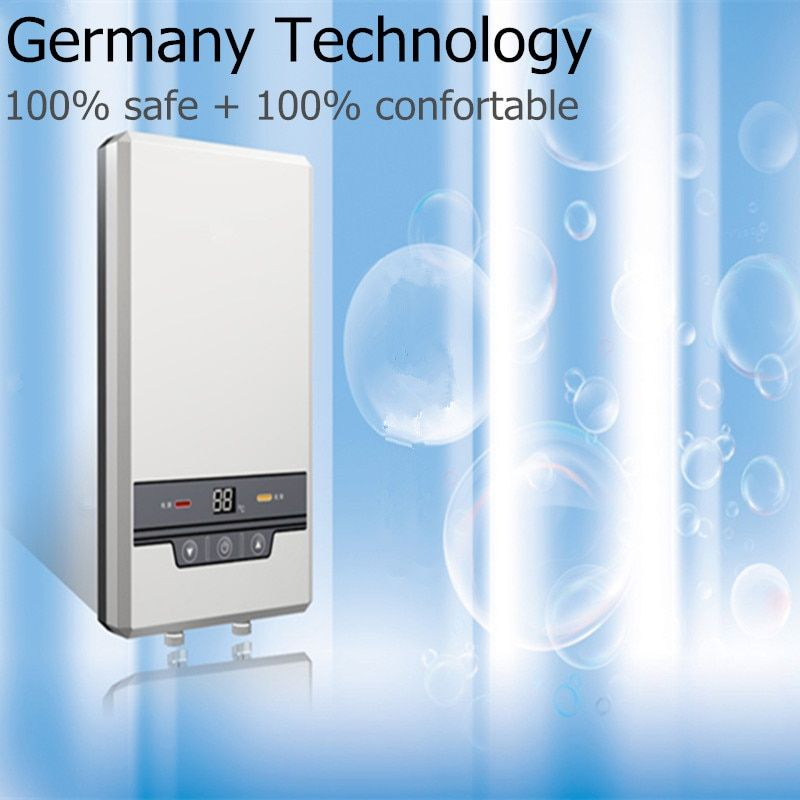 7500W Electric Tankless instantaneous water heater for household Bathroom Shower kitchen sink faucet Instant Hot water supply