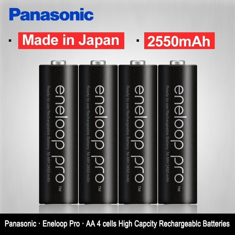 Original Panasonic Top Quality 2550mAh AA Pre-Charged Rechargeable Batteries 4PCS/LOT 1.2V NI-MH AA Camera Battery Eneloop