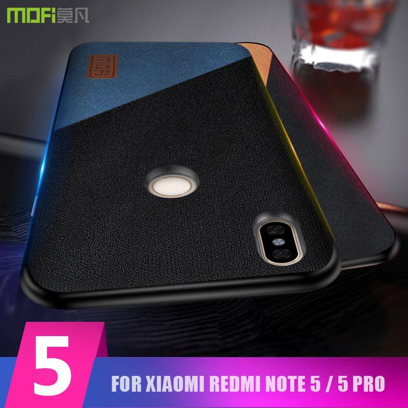 redmi note 5 case cover MOFI for xiaomi redmi note 5 Global Fabric Leather Back Cover Case redmi note 5 Pro Full Cover Case