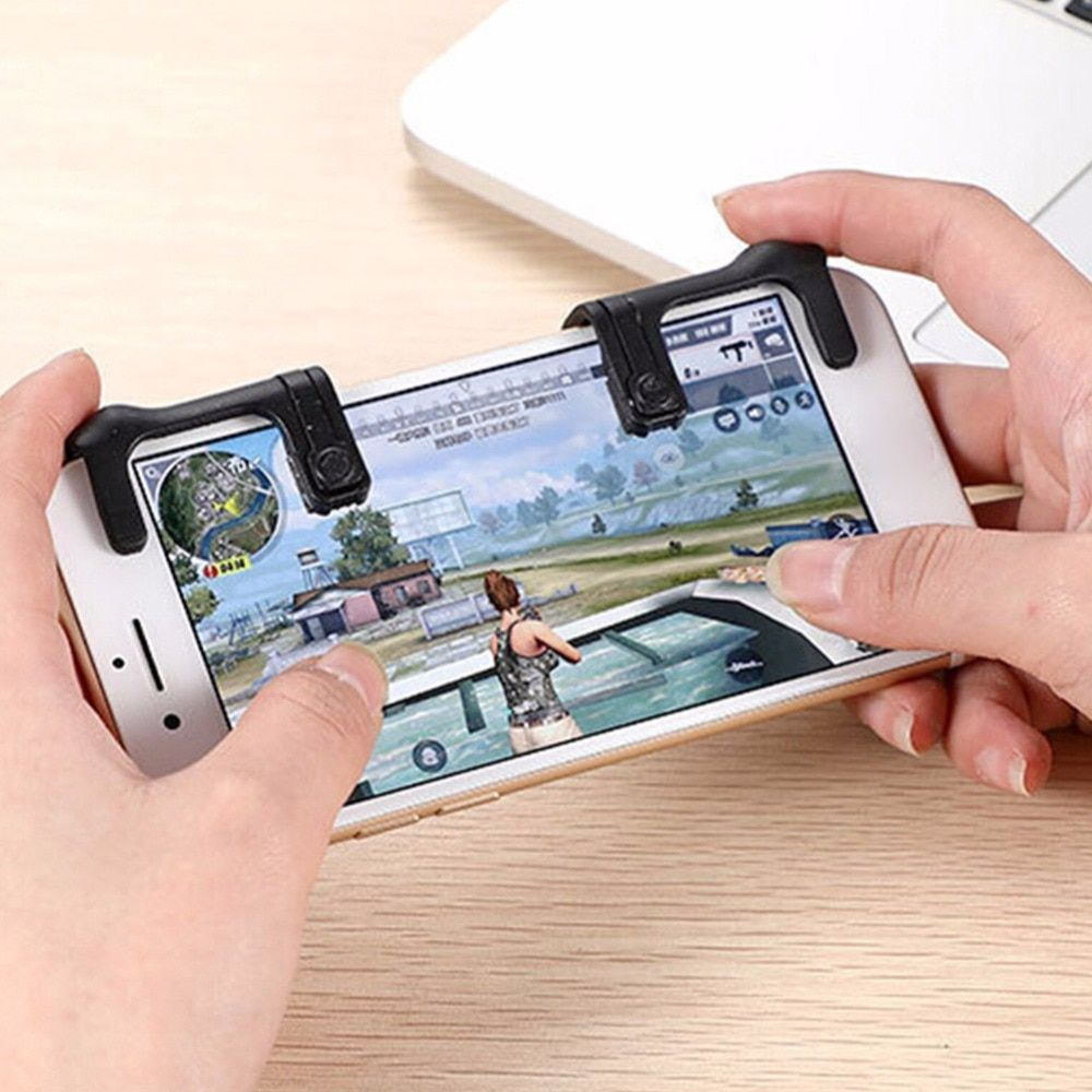 VKTECH 2pcs Mobile Phone Physical Joysticks Game Controller Assist Tools for STG FPS TPS Games PUBG Shooting Game Tools