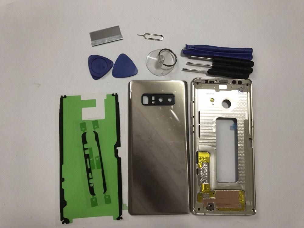 NOTE8 Original neue Ersatzteile Für Samsung Galaxy note 8 N950 N950F gehäuse set Korpus Gehäusezubehör + Werkzeuge