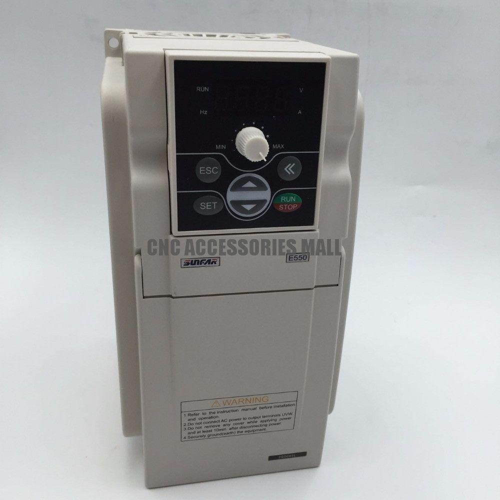 Sunfar E550 series 2HP 1.5KW E550-2S0015 Variable Frequency Inverter(VFD) AC 170-270V for motor speed control