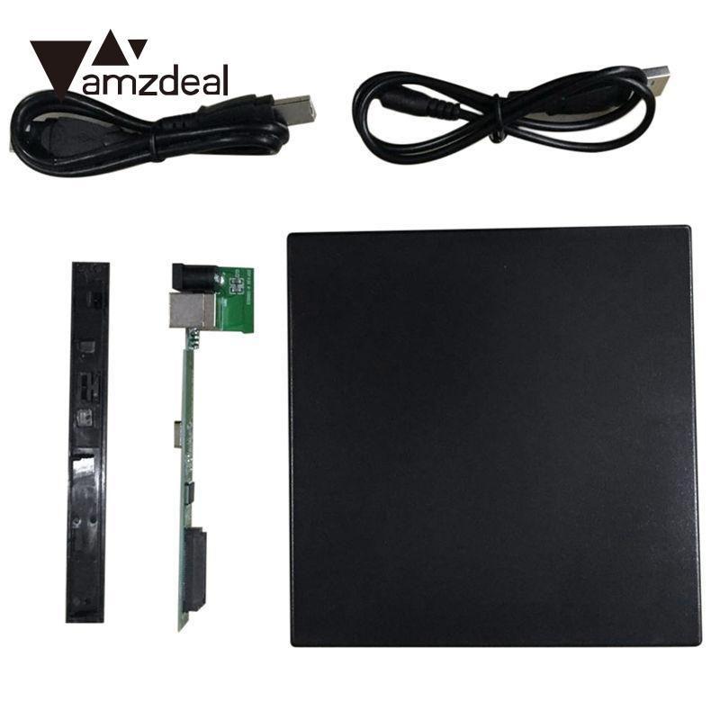 Amzdeal новый тонкий жесткий USB 2.0 SATA 12.7 мм внешний CD/VCD/DVD корпус CD-ROM чехол для ноутбука оптический привод