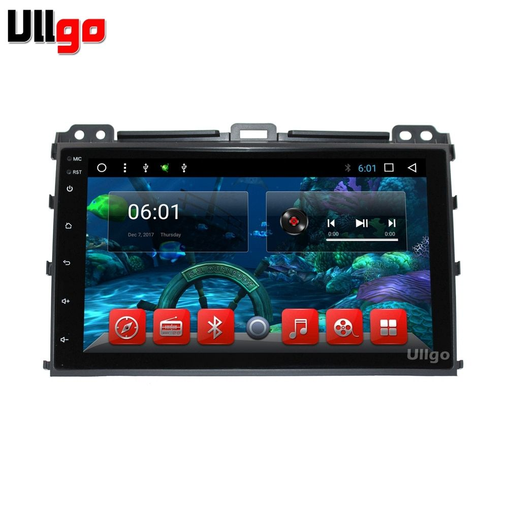 Android 7.1 Car DVD GPS for Toyota Land Cruiser Prado 120 2002-2009 with Bluetooth Radio RDS Wifi Mirro-link Free 8GB Map Card