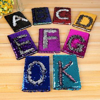 1 шт. творческий Красочные Письмо блестки записная книжка модные офисные Бизнес подарок канцелярские 78 листов ежедневного записная книжка