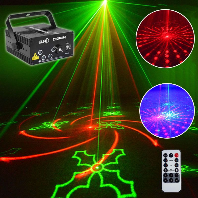 2018 Newest christmas laser projector 80 patterns stage effect disco lights for home music star laser lumiere Projector natal