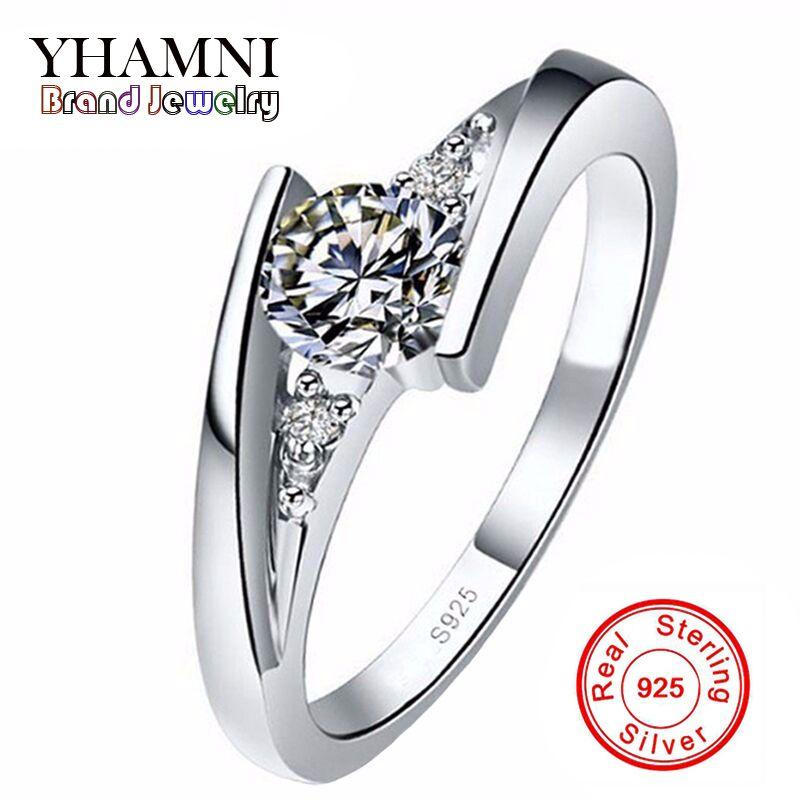 Geld verloren Verkauf!!! 100% reine 925 Sterling Silber Ring Set Luxus 0,75 Carat CZ Diamant Hochzeit Ringe für Frauen AR004