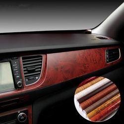 40*100 Cm Mobil Gaya Stiker Perekat Diri Vinil Mebel Kayu Vinil Kayu Bungkus Serat Karbon Internal air-Tahan Stiker