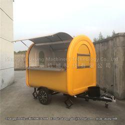 Se puede personalizar alimentos remolque carrito de comida móvil camión de alimentos carrito de café perro caliente para la venta