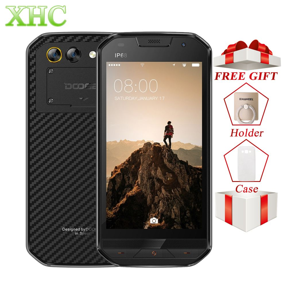 DOOGEE S30 Android 7.0 Smartphone IP68 Waterproof 5.0'' Side Fingerprint 5V/2A Fast Charge 2GB+16GB Dual SIM LTE 4G Mobile Phone
