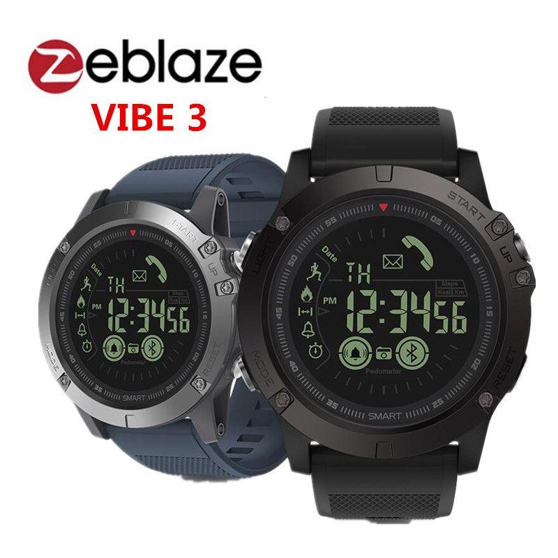 Zeblaze VIBE 3 Smart Watch BT4.0 Sports Smart Watch Smart Wristband Pedometer Alarm long standby pk thor smartwatch