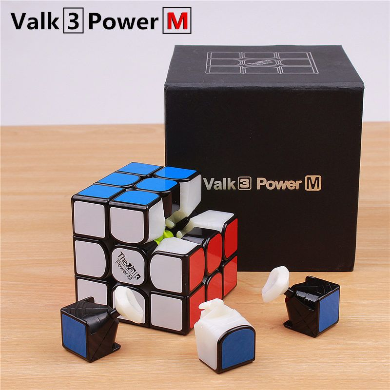 Qiyi the valk3 power m <font><b>speed</b></font> cube 3x3x3 magnetic stickerless professional cubo magico toys for kids valk 3 m puzzle cube magnet