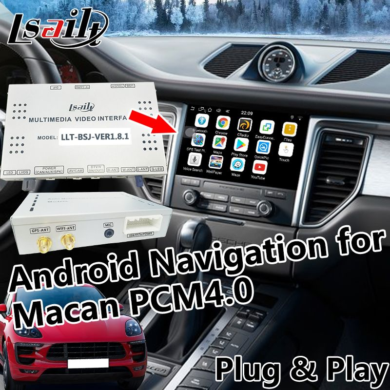 Android 6.0 GPS Navigation for 2017-2018 Porsche Macan with WIFI , Mirroring, Online Navigation , Live Navigation etc.