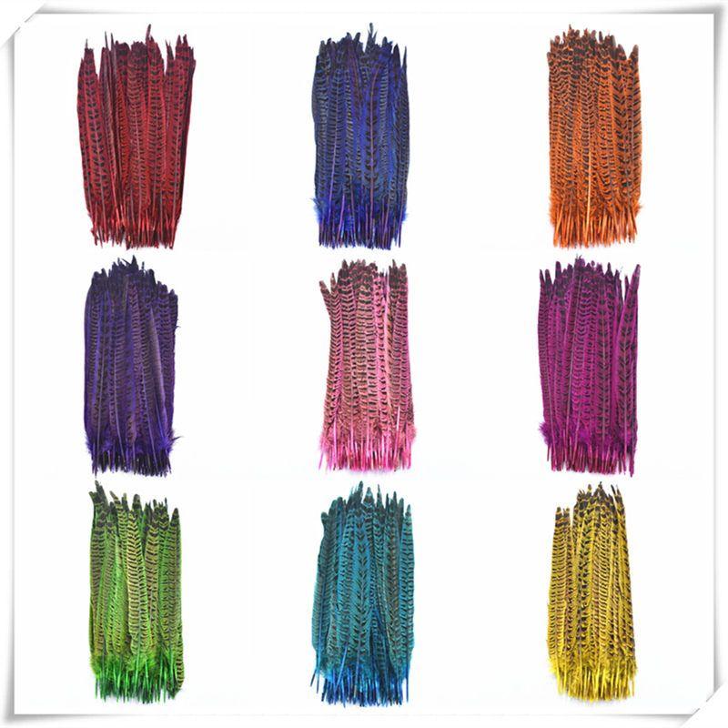 Neue Natürliche färben fasan schwanz federn 100-500 PCS 25-30 cm DIY kopfschmuck/Hochzeit dekoration plumes und federn für handwerk