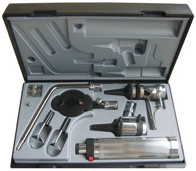 Professional Medical Diagnositc ENT Kit Direct Ear Care Otoscope and Ophthalmoscope Diagnosis Set
