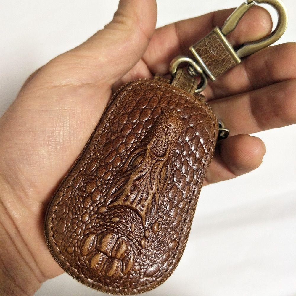 Femme clé portefeuille hommes femmes en cuir véritable voiture clé titulaire femme de ménage pour hommes rétro multifonctionnel maison porte-clés Case