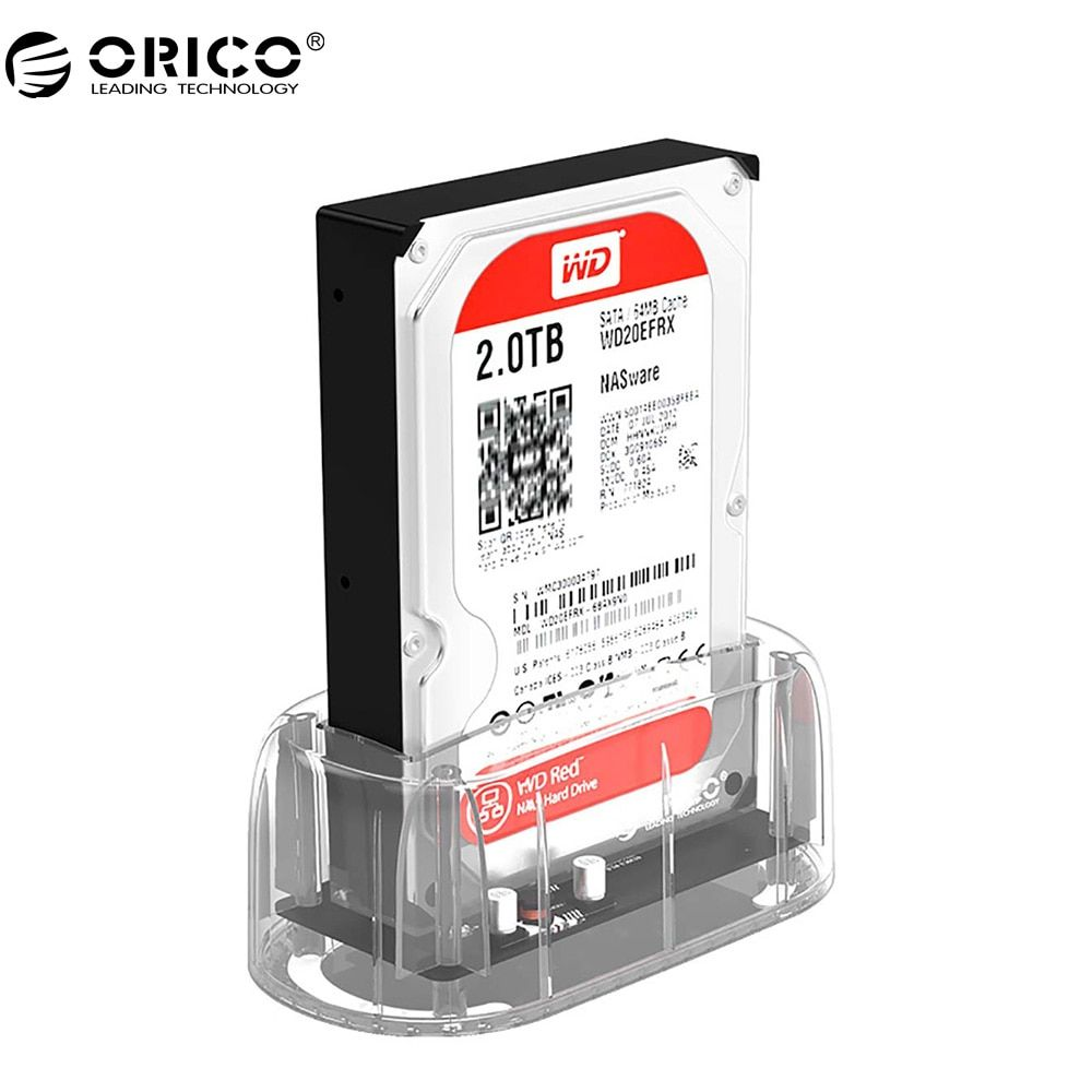 ORICO 2.5''/ 3.5 HDD Transparent Docking Station Support 8TB Storage UASP Protocol USB 3.0 to SATA 3.0 Hard <font><b>Drive</b></font> Enclosure