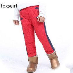 2018 Baru Musim Gugur Musim Dingin Tahan Angin Anak Gadis Hangat Beludru Celana Gadis Katun Down Celana Anak Laki-laki Menebal Padded Celana