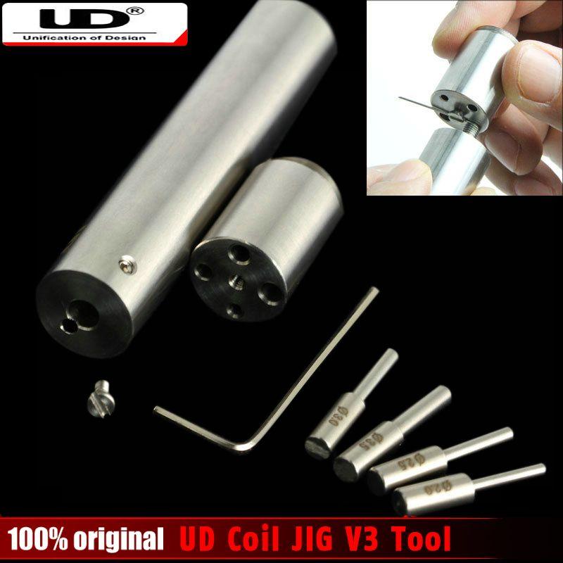 100% Original Youde UD Spule JIG V3 Drahtwickelwerkzeug vorgefertigte geschweißte Drähte Vaping Spulenwickelmaschine Jig Werkzeug Coiljig rda schraubenspannvorrichtung
