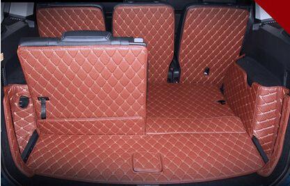 Good mats! Special car trunk mats for Volkswagen Touran 7 seats 2018-2015 waterproof boot carpets cargo liner mats,Free shipping