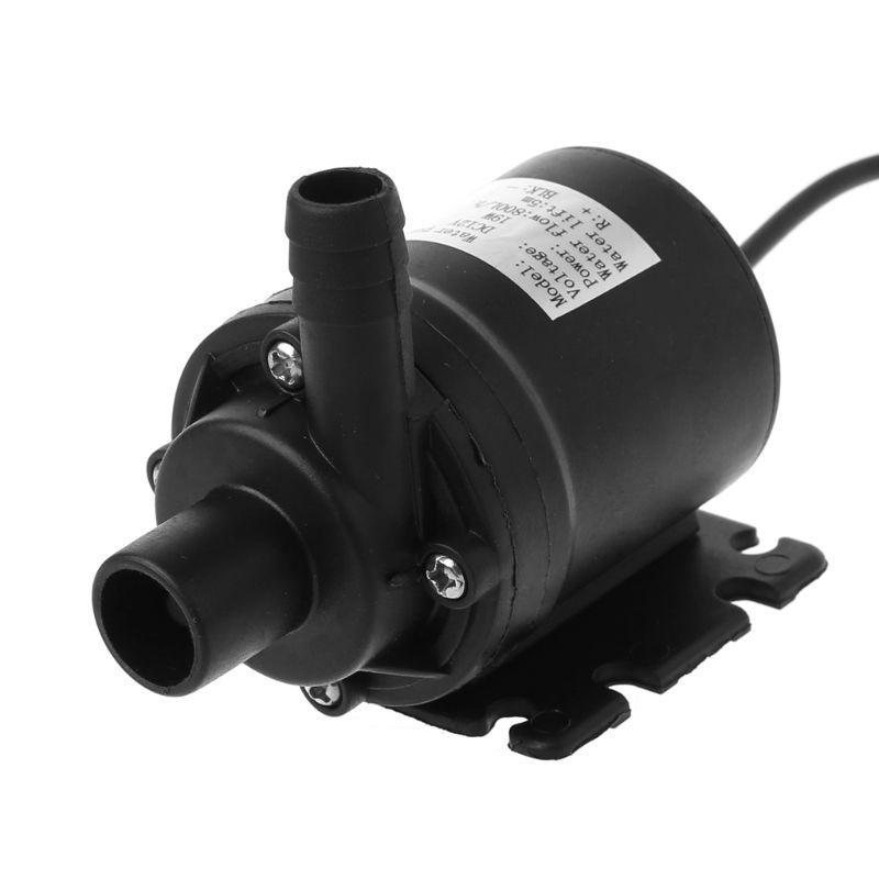 Pompe à eau Submersible de Circulation d'eau de moteur sans brosse solaire de 800L/H 5m DC 12V #0604