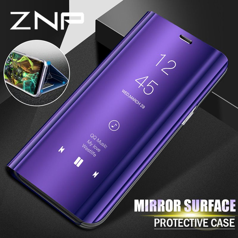 ZNP Luxury Flip Stand Smart View Case For Samsung Galaxy S9 S8 Plus S9 Phone Cover For Samsung S7 Edge Note 8 S8 S9 Case Shell
