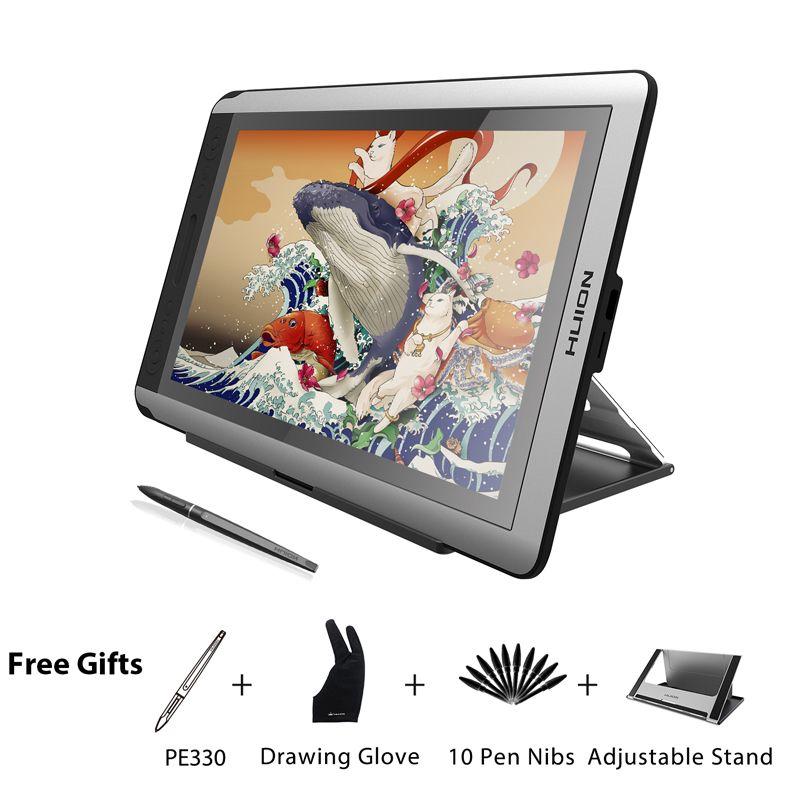 HUION KAMVAS GT-156HD V2 Stift Display Monitor 15,6 inch Digitale Grafiken Zeichnung Tablet Monitor mit 8192 Ebenen und Freies Geschenke