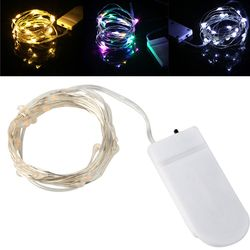 Fairy Lights 1M 10LED Xmas Wedding Party Decoration Led Christmas Copper String Light CR2032 Battery Operated