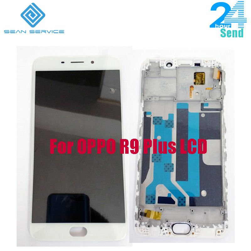 For Original OPPO R9 Plus LCD Display Screen +Touch Glass Digitizer Assembly Replacement+Frame 6.0 inch 1920x 1080P