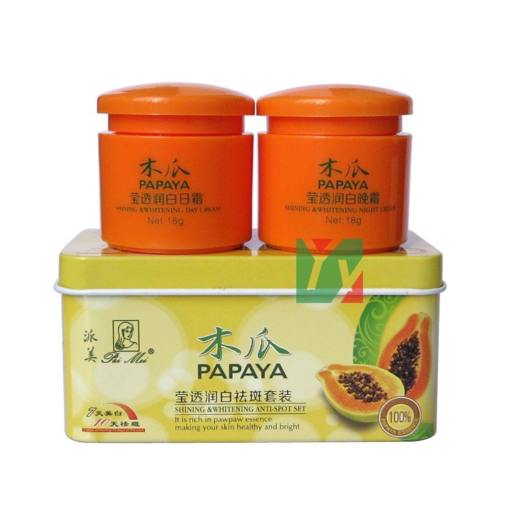PAIMEI papaye 7 jours brillant et blanchissant 10 jours anti-taches jour + nuit crème 2 pièces/ensemble