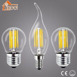 Meel Retro LED Birne E27 E14 Led-lampe 220 V 240 V LED Filament licht 2 Watt 4 Watt 6 Watt 8 Watt Glaskugel Bombillas LED Edison Lampe Licht