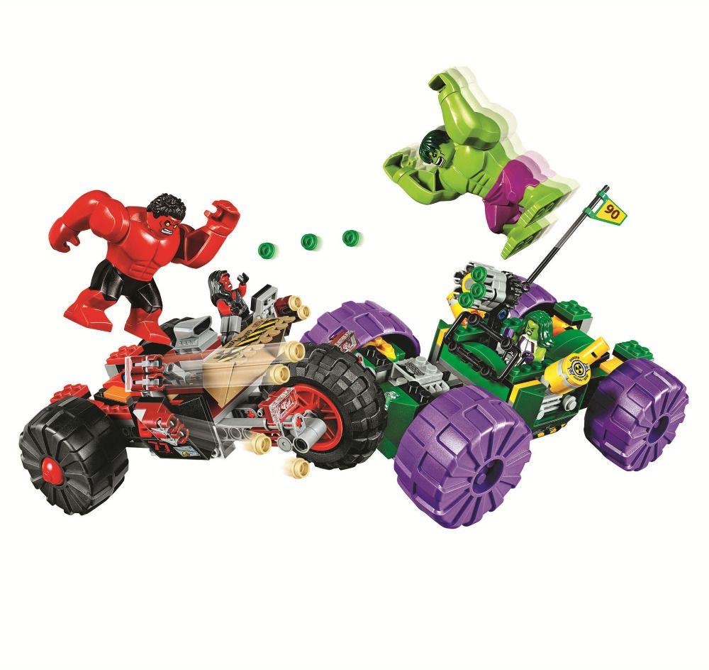 BELA Batman Super Héros Hulk vs Rouge Hulk Blocs de Construction Briques Film Modèle Enfants Jouets Marvel Compatible Legoings