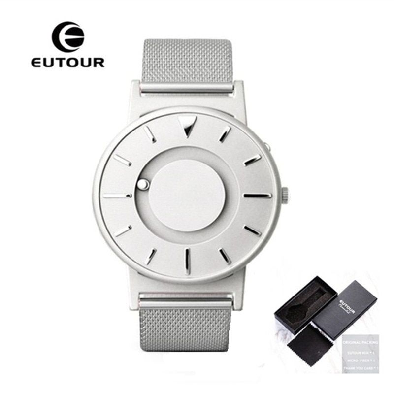 EUTOUR Magnetic Watches Men Fashion Creative Design Luxury Brand Male Clock Stainless Steel Mens Watches 2017 relogio masculino