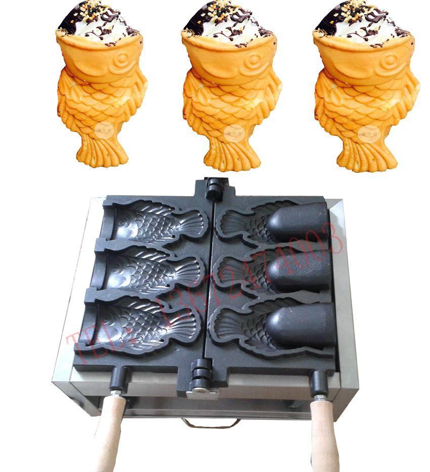 Buy one get 6 gifts!!!! 110V 220V Ice Cream Taiyaki Machine Open mouth Taiyaki maker