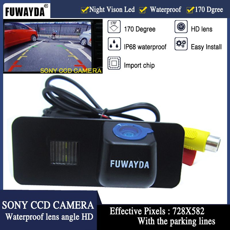 FUWAYDA SONY CCD Car Rear View REVERSE CAMERA for Volkswagen VW PHAETON/SCIROCCO/GOLF 4 5 6 MK4 MK5 /EOS/LUPO/BEETLE Guide Line