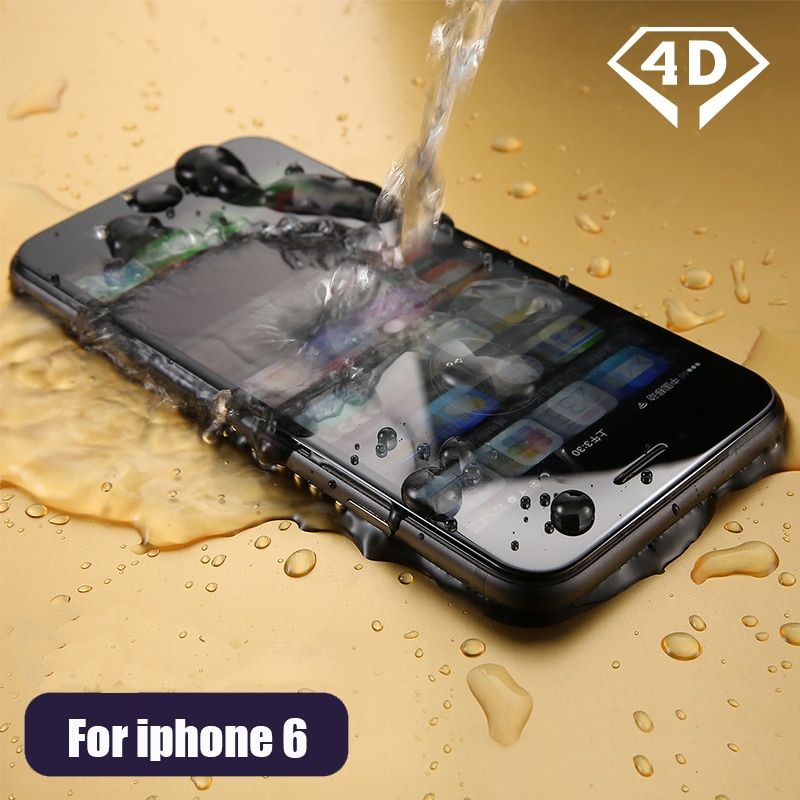 CHYI 4D Tempered glass For iphone 6 glass 9h hardness explosion proof full coverage for iphone 6s screen protector