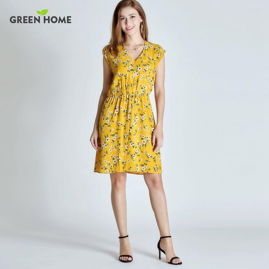 Maison verte Floral De Maternité Robe D'allaitement Quatre Couleurs Grossesse Robe Courte Pour Les Femmes Enceintes