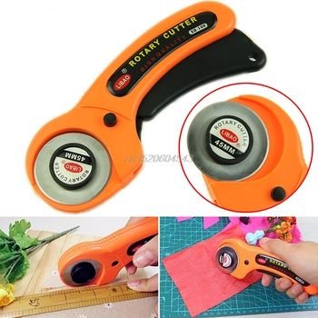 45mm Rotary Cutter Premium Quilters Sewing Quilting Fabric Cutting Craft Tool R06 Drop Ship