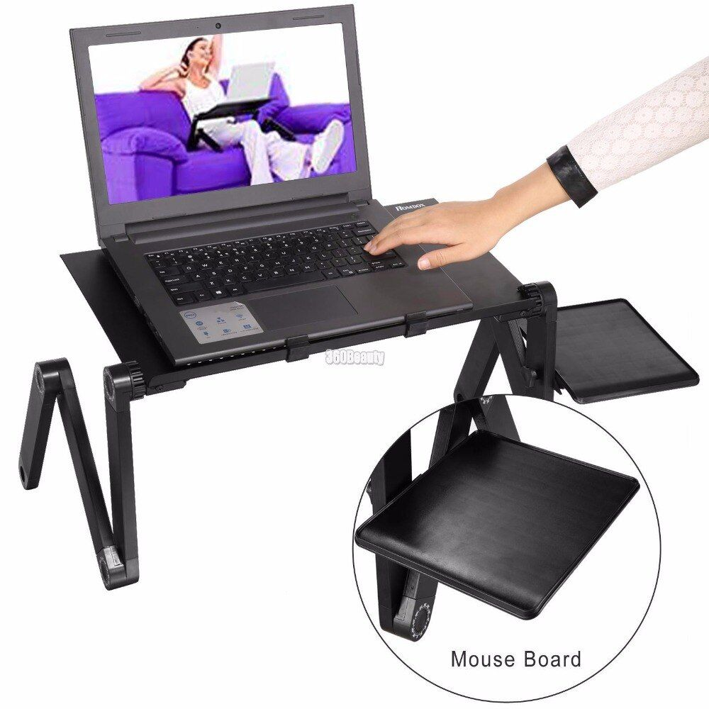 Homdox Adjustable Lamtop Desk High Quality Computer desk without fans and with fans Black Solid Good gift for Work N30A